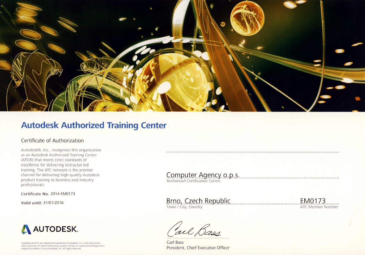 Autodesk Authorized Traingin Center - Brno, Praha