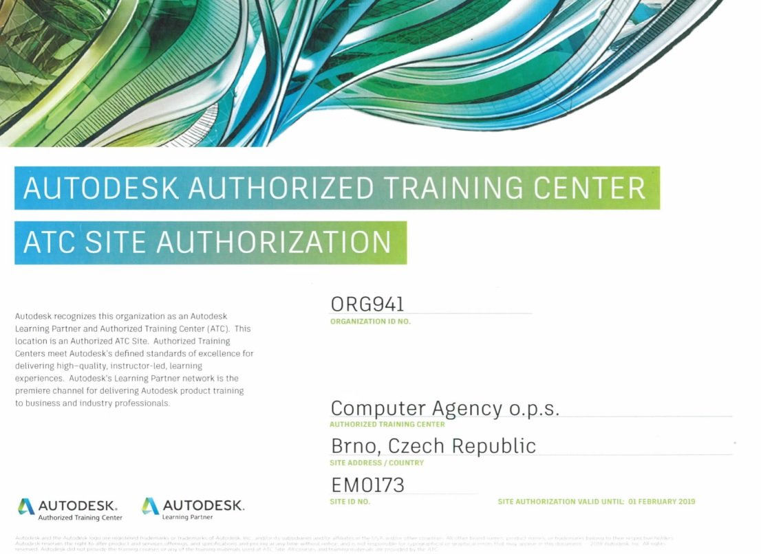Autodesk Authorized Training Centrer 2018